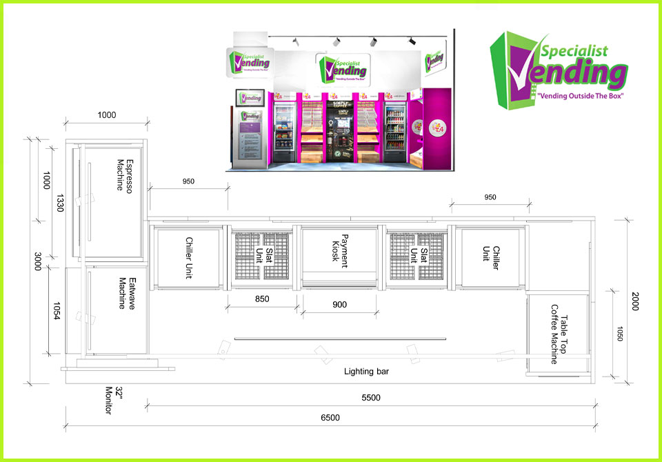 Exhibition Stand Drawing : Illustration services creative shock wave